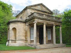 Replica of a Roman temple. Garden folly, England