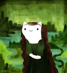 """cindysuen: """" Mona Lisa Cat """""""