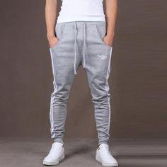 94db2692454d All Seasons Men s Casual Trousers Sweatpants Harem Pants Cotton Blend  String Elastic Waist Slacks Jogger Dance Sportwear Baggy