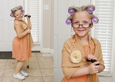 100th day of school - 100 year old lady or old lady costume idea