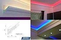 BENDU – Klassische und gleichzeitig moderne LED Stuckleisten bzw. Lichtvouten für indirekte Beleuchtung aus Hartschaum DBKL-82-PR. Ideal kombinierbar mit LED Band oder Lichtschlauch.