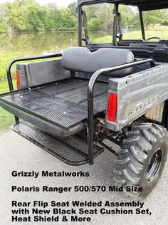 Truck Bed Coating, Utv Accessories, Toyota Fj40, Polaris Ranger, Grab Bars, Lake Cabins, Rear Seat, Seat Cushions, Metal Working