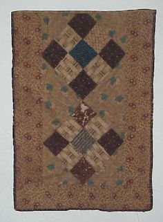 doll quilt - looks to be circa 1830-1870 without getting my fingerprints on it! Love it