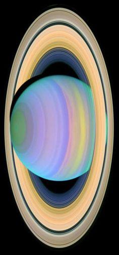 #Saturn's Rings in #Ultraviolet Light. #space