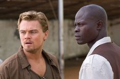 Still of Leonardo DiCaprio and Djimon Hounsou in Blood Diamond- the good