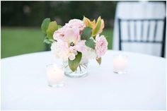 Parot tulip and blush rose cocktail centerpiece | Arizona Biltmore Wedding | Phoenix Wedding Planner | Megan Dileen Events