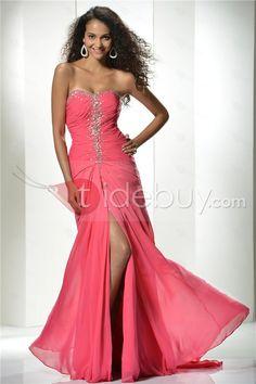 Plancher-Longueur taille empire Baguettes robe de soirée A-ligne Encolure Coeur Graceful (Livraison gratuite)