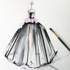Jeanette Getrost sur Instagram : This dress though! @giambattistapr