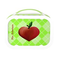Teacher's Heart Apple Personalized Lunch Box