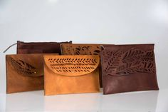 Palm Clutch | Ilundi | Online Shop Cow Hide, Embossed Logo, Natural Leather, Hand Stitching, Palm, It Is Finished, Creative, Shop, Hand Prints