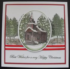 Stampscapes church Christmas Cards, Happy, Christmas E Cards, Xmas Cards, Ser Feliz, Christmas Letters, Merry Christmas Card, Christmas Card Sayings, Being Happy