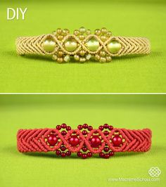 Wavy Chevron Bracelet with Beads - Tutorial