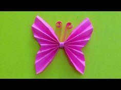 Origami Schmetterling basteln mit Papier - Origami Tiere falten: DIY Wanddeko - Bastelideen Geschenk - YouTube