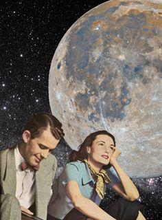Dreaming. Annette von Stahl collage.