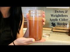 Apple cider vinegar detox for Health Benefits & Weight Loss. Recipe: 12 oz water, 4 T. apple cider vinegar, 1 t cinnamon, 4 T lemon juice, 1 pinch cayenne (optional), 4 T honey or 1/2 t. sweetener, apple slice (optional)