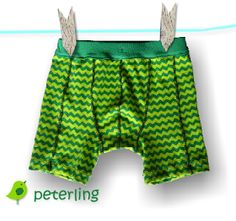 "Freebook ""Hugo"" underwear pattern in Euro sizes 98 & 110 (2T & 5T)."