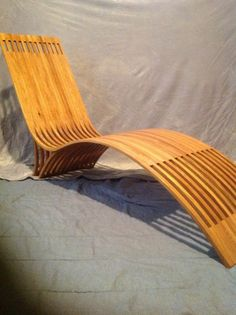 Steam bent white oak lounge chair by Foxwoodshop on Etsy