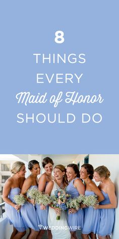 As maid of honor, you're likely the bride's BFF or sister, a valued, confidant, and someone the bride wants standing by her side when she gets married. Here are a few surefire things you need to do as the bride's go-to gal!