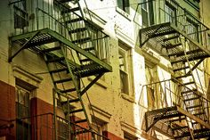 Fire escapes, Little Italy, New York City Little Italy New York, Fire Escape, City Style, New York City, Bring It On, Apple, Memories, Usa, World