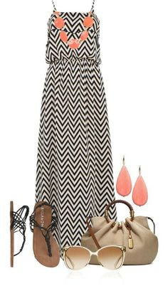 Maxi dresses are always a go to when in a hurry. Just remember to add some accessories to that get polish touch.