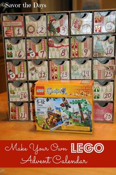 Savor The Days: Make Your Own LEGO Advent Calendar {LEGO Challenge}