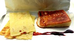 Queso Majorero a la plancha con crema de dátiles y pan sardo de Sala de Despiece, Madrid