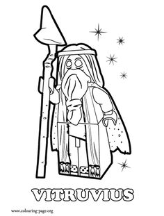 Vitruvius is a Lego minifigure and Master Builder from The Lego Movie. How about print it out and have fun coloring this amazing picture?
