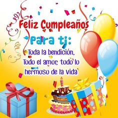 Happy Birthday In Spanish, Happy Birthday Notes, Happy Birthday Cake Images, Birthday Wishes Messages, Happy Birthday Flower, Happy Birthday Friend, Birthday Greetings, Christian Birthday Cards, Christmas Name Tags