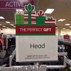 That'd be a hard gift to exchange.