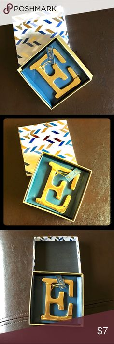 """🏵4"""" SOLID BRASS E . NWT. 🏵4"""" SOLID BRASS E . NWT. Charmed Life Accessories"""