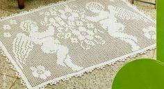 Schemi per il filet: Un tappeto con gli angeli