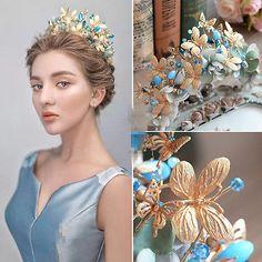 Wedding Bridal Baroque Handmade Crown Tiara Headband Hairband Hair Accessories