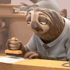 Find GIFs with the latest and newest hashtags! Search, discover and share your favorite Disney GIFs. The best GIFs are on GIPHY. Zootopia Gif, Zootopia Sloth, Cute Baby Sloths, Cute Sloth, Funny Sloth, Animiertes Gif, Animated Gif, Tableau Pop Art, Hilarious Animals