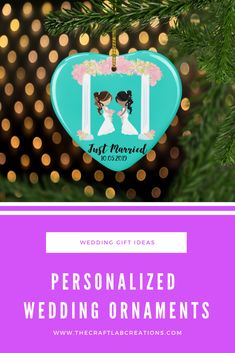 A personalized wedding gift is going to be remembered for years to come. Getting married or have some one you know getting married. Gift them a beautiful heart ornament . Personalized Family Gifts, Wedding Ornament, Lesbian Wedding, Heart Ornament, Just Married, Christmas Tree Ornaments, Gifts For Mom, Wedding Decorations, Gift Ideas