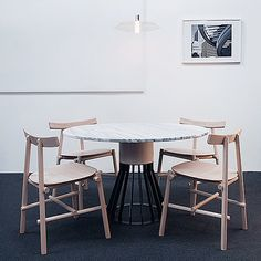 Mewoma Table By Jonah Tagaki , Ronin Chair By Frederik Werner U0026 Emil Lagoni  Valbak For La Chance   Photo By Joséphine Aury   Www.lachance.fr |  Pinterest ...