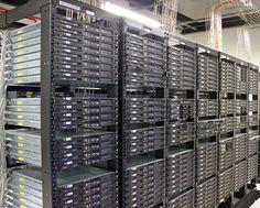 Pasillo de Datacenter. Datacenter's corridor