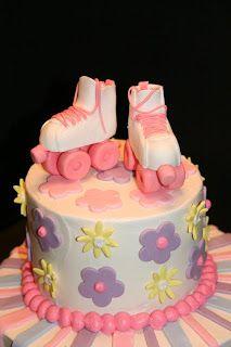 Edge Desserts:  Roller Skate Birthday Cake