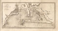 Mapa de la Bahía de Cádiz del siglo XIX