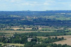 The view from Westbury White Horse, Wiltshire