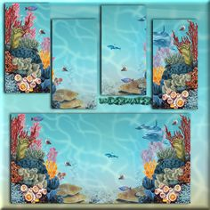 Underwater Coral Wall Mural - Walls - Sims 2 Downloads - Sims 2 Downloads - SailfinSims