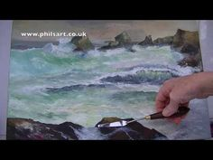 Painting tips and techniques the use of palette knife along with acrylic paints - YouTube