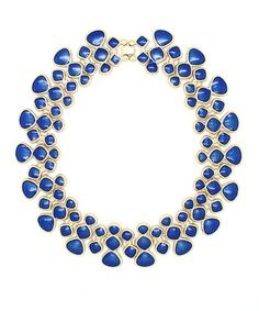 Love this Gold & Blue Triangle Bib Necklace by Eye Candy LA on #zulily! #zulilyfinds