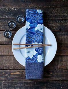 Mise en place: japanese table Mise en place: tavola giapponese