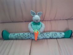 My own Pattern for a knitted Bunny Draft Stopper