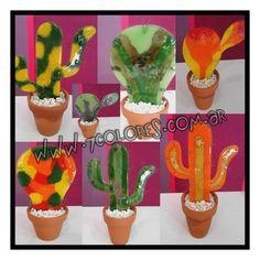 Cactus de vitrofusión