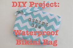 So cute! DIY Project: Waterproof Bikini Bag Tutorial