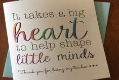 Image result for thank you teacher cards messages