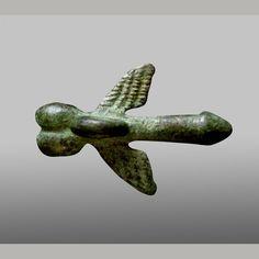 Ancient Roman winged phallus. Bronze.