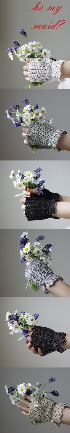 Lace Handmade Fingerless Gloves, Bridesmaid gift, Wedding Bridal accessories