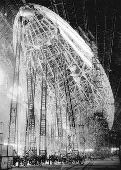 Zeppelin skeletton  past